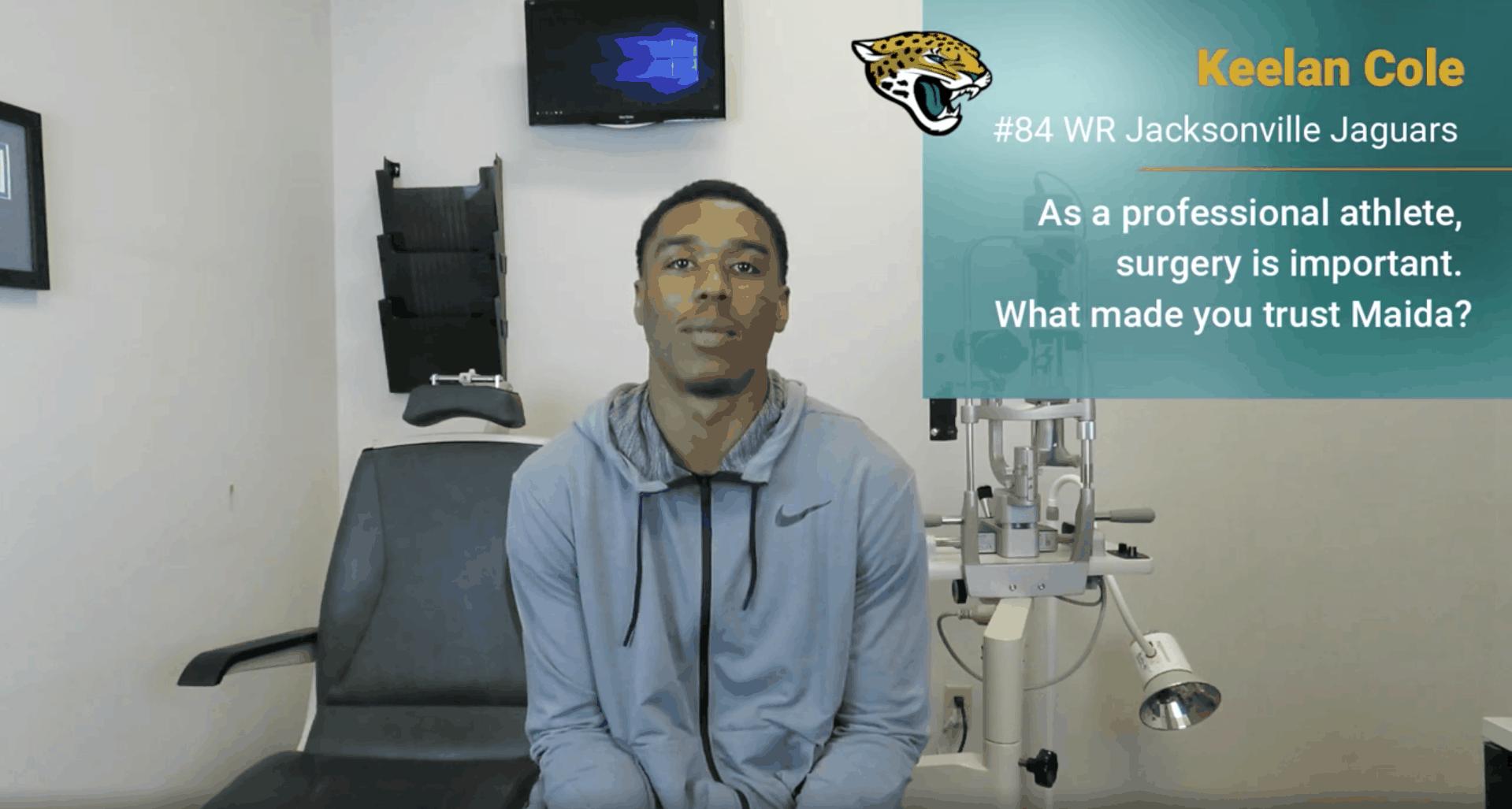 Jacksonville Jaguars Keelan Cole Maida LASIK Testimonial